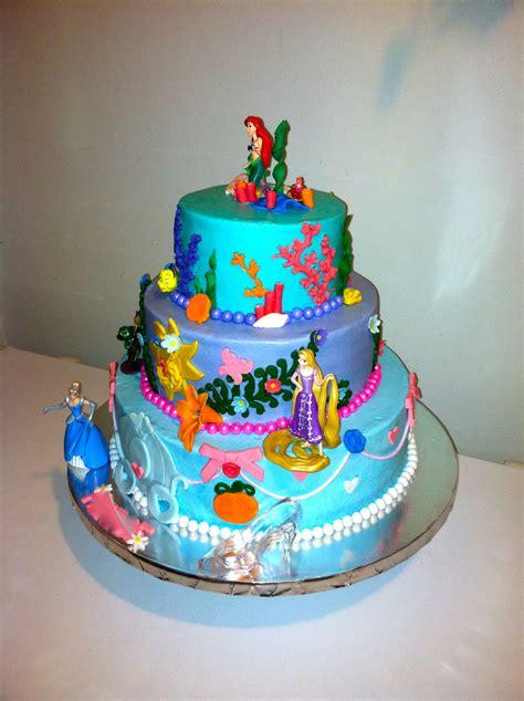 Princess Cake Decorations by Disney Princess Cake Arial Rapunzel And Cinderella Bc