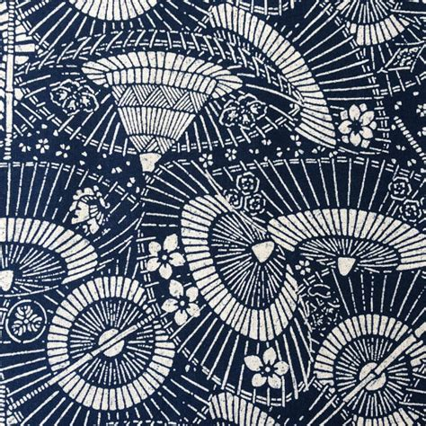 japanese umbrella pattern remnant japanese indigo parasols umbrellas bangasa wagasa