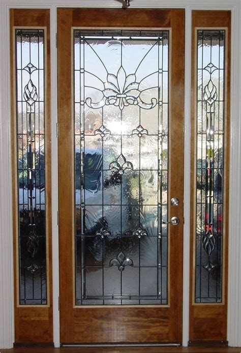 leaded glass front door inserts beveled glass front doors leaded stained glass entry