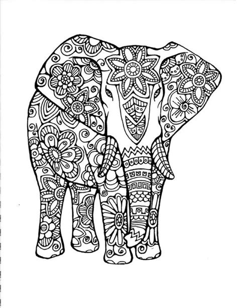 detailed elephant coloring pages 324 best adult colouring elephants zentangles images on