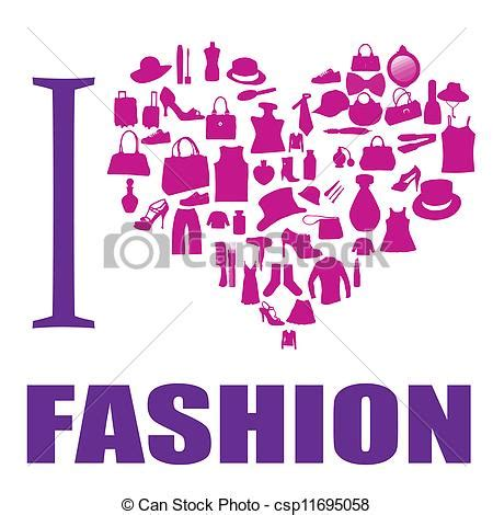 clipart fashion heart clipart vector of i love fashion background the heart is