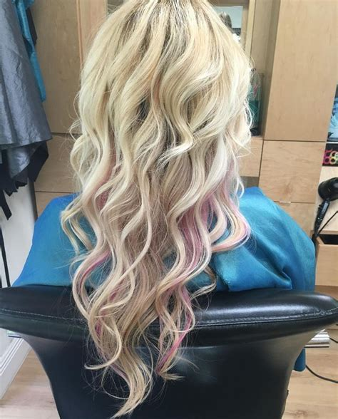 pink blonde hair ideas  pinterest rose blonde