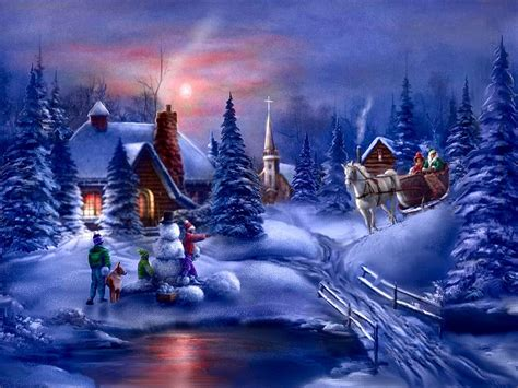 animation for winter popular images kerstachtergronden