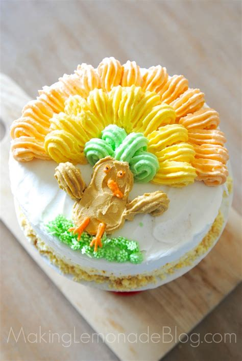 cake decorating  easy thanksgiving cake idea