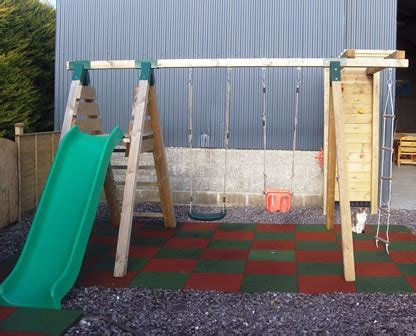 double slide swing set play units and tree houses hennessey timber group