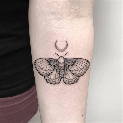 moth tattoos small moth on the inner forearm single needle