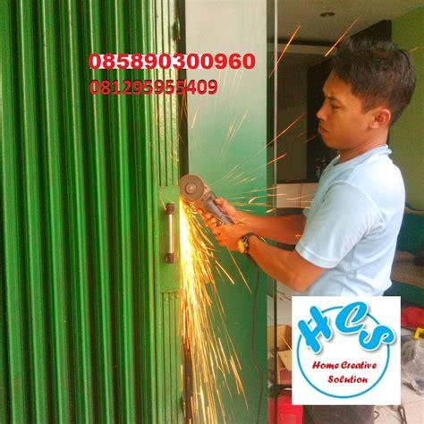 jasa service rolling door murah ahli service folding gate