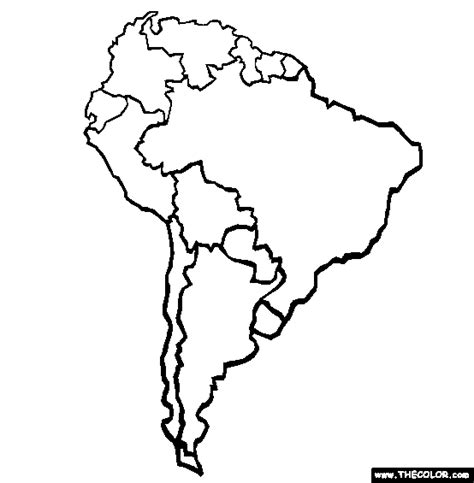 fill in the blank map of south america