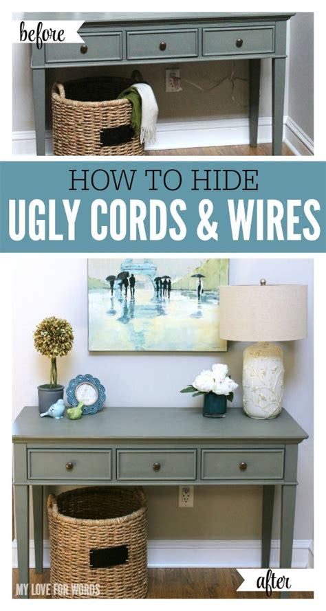 how to hide l cords funky sunday diy 12 id 233 es brillantes pour cacher les