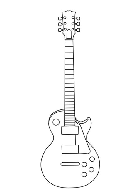 guitar design template guitar outline clipartion