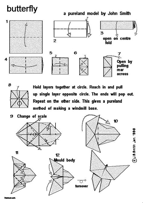 Butterfly Origami Steps - how to make origami butterfly how to make a butterfly
