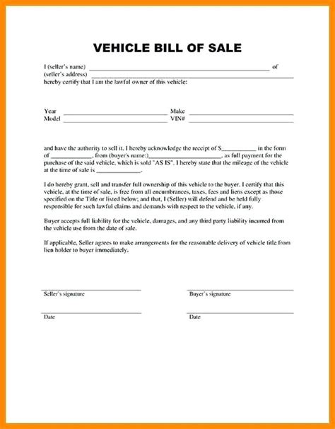 Templates For Bill O Sale Receipt by Sle Bill Of Sale Resume Template Sle