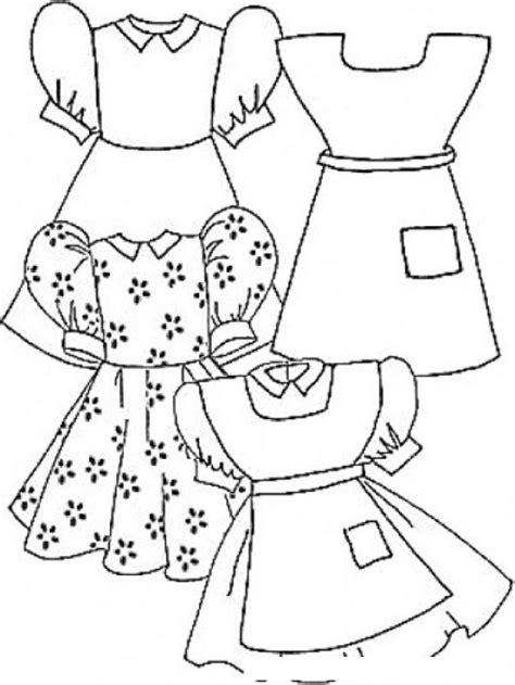 imagenes para colorear vestido colorear vestiditos de nina para pintar y colorear