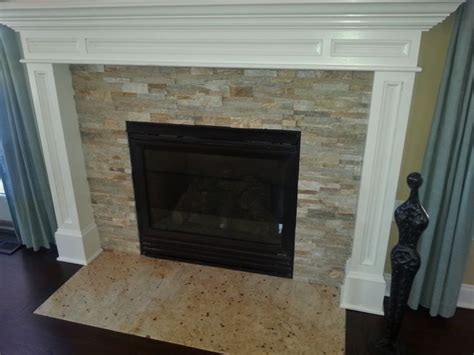 stacked tile fireplace surround 27 best ideas about stacked fireplace on