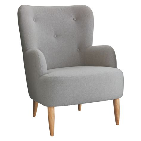 Armchair Media by Wilmot Grey Wool Mix Armchair Buy Now At Habitat Uk