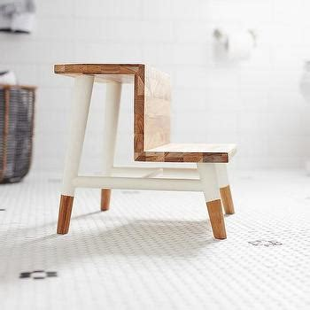 Serena And Teak Step Stool by Hexagon Tiles Design Ideas