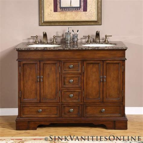 48quot sedona small double sink bathroom vanity cabinet 0715