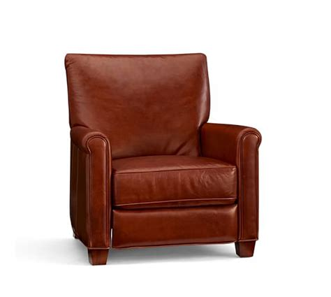 pottery barn recliners irving leather recliner pottery barn