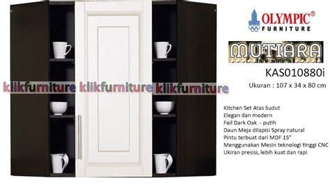 Lemari Sudut Olympic kas 010880 kitchen set sudut atas minimalis mutiara olympic