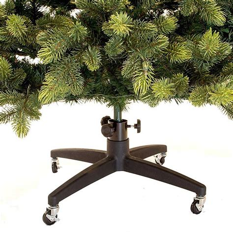 rolling artificial christmas tree stand in christmas tree