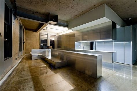 Cold Interior Design With Marble And Metal Furnishing Metal Interior Design