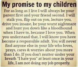 My promise to my children family quote