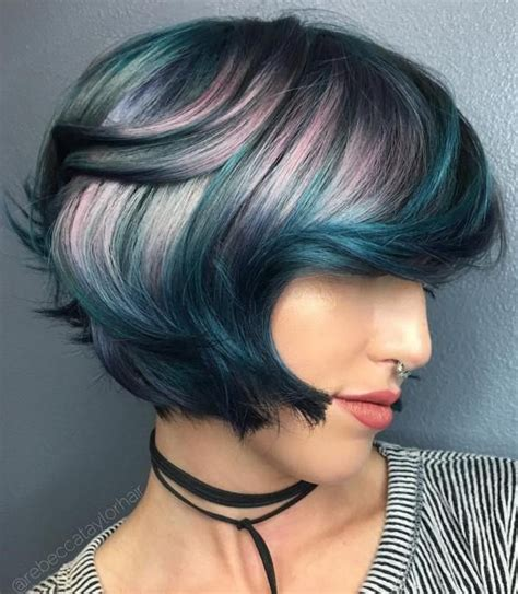 hairstyles with teal highlights 25 best ideas about lavender highlights on pinterest