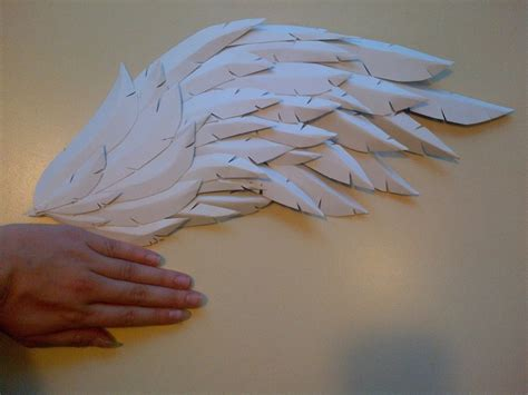How To Make Paper Wings - paper craft foam wings 183 how to make a wing 183 papercraft