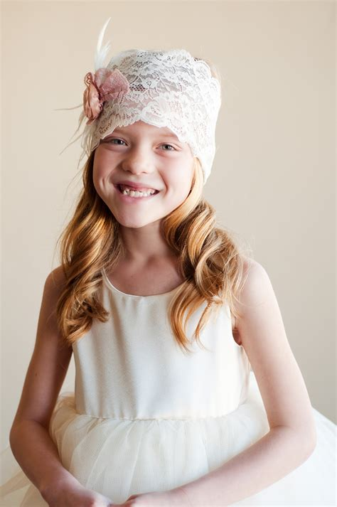 adorable girls headband of ivory silk flowers great for our range of beautiful flower girl hair accessories and