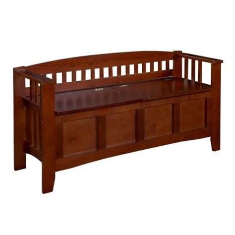 home depot outdoor storage bench walnut storage bench with split seat 85001walz 01 kd u