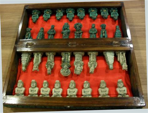 wooden chess sets for sale scarce antique wood stone mayan chess set mexico for