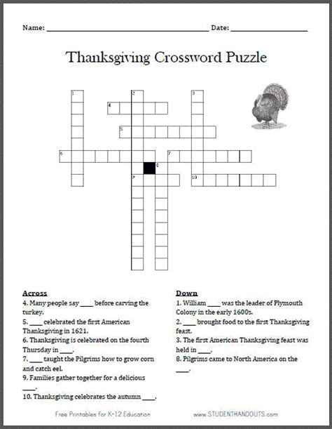 printable turkey puzzle pin printable thanksgiving crossword for adults bible