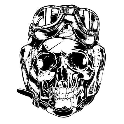 Sponsoren Aufkleber Motorrad Gratis by Motor Skull Sticker 3 Motor Stickers Stickythings Nl