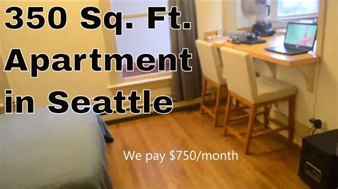 how big is 350 square feet 350 sq ft apartment in seattle youtube