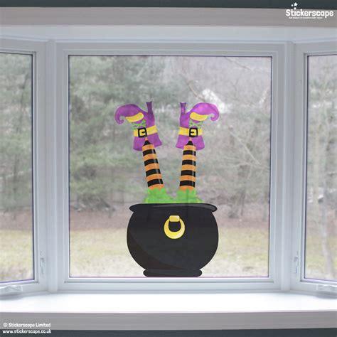Window Stickers Uk cauldron and witch window sticker stickers