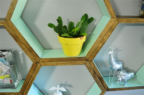 diy shelf decorations diy honeycomb shelves loving here