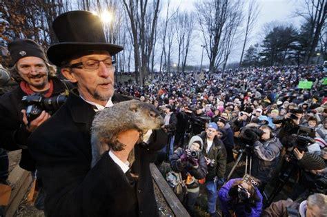 groundhog day celebration punxsutawney pa groundhog predicts 6 more weeks of winter