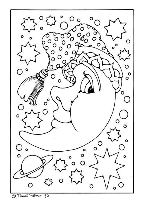 free coloring pages moon and stars moon and stars coloring pages coloring home