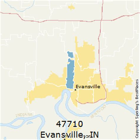 zip code map evansville in best places to live in evansville zip 47710 indiana