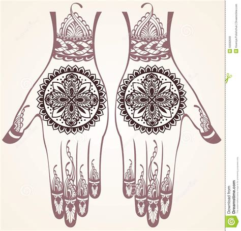 henna tattoo hand z rich with henna tattoos stock vector image 50592849