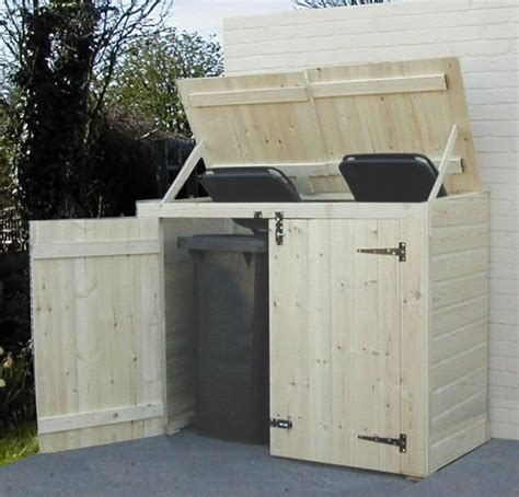 Outdoor Trash Can Shed by Best 25 Garbage Can Shed Ideas Only On