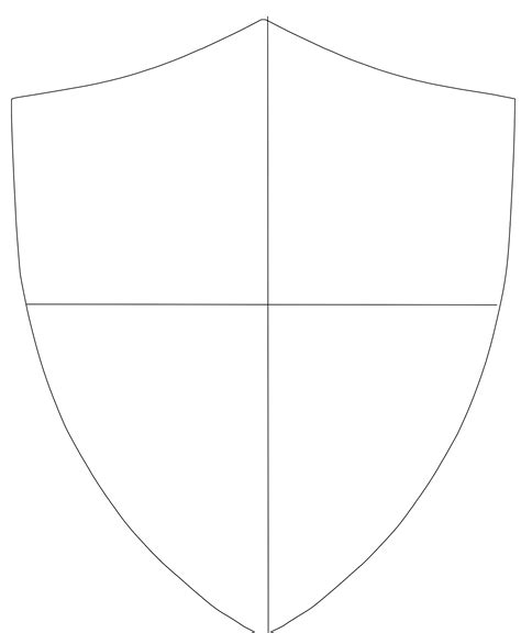 printable template for knights crest shield