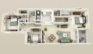 house design plans 3d 3 bedrooms cool 3 bedroom 3d plans interior design ideas
