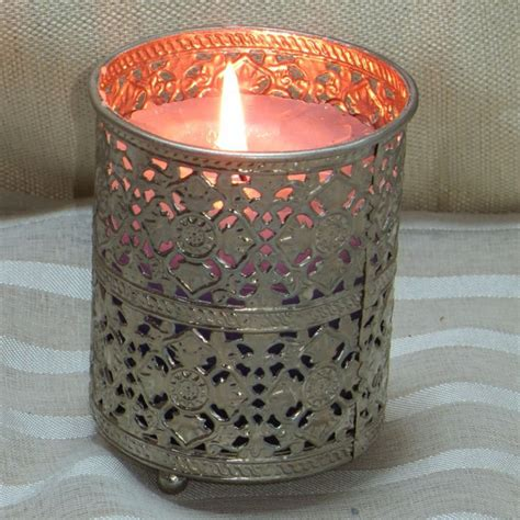 wholesale glass metal votive tealight candle holders