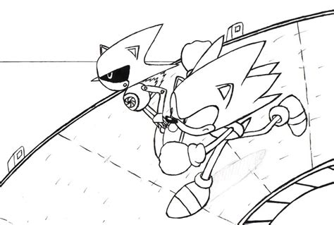 metal mario coloring pages sonic metal sonic race lineart by sonicwindartist on