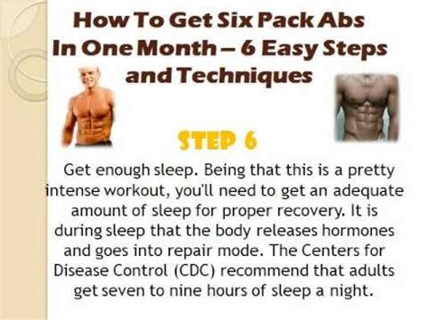 how to get six pack abs in a one month 7 easy steps that