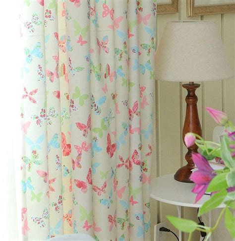butterfly curtains for kids colorful butterfly curtain curtain panel with pink blue