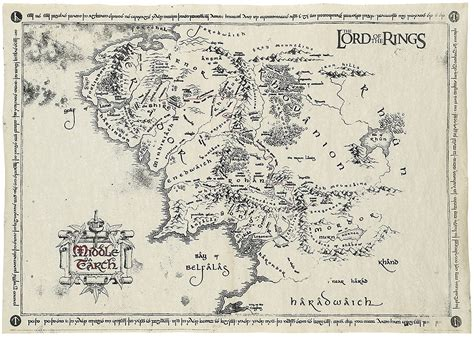 map of middle earth lotr middle earth map