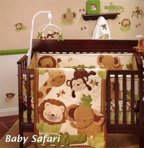 baby safari crib bedding baby safari 8 crib bedding set bumper monkey