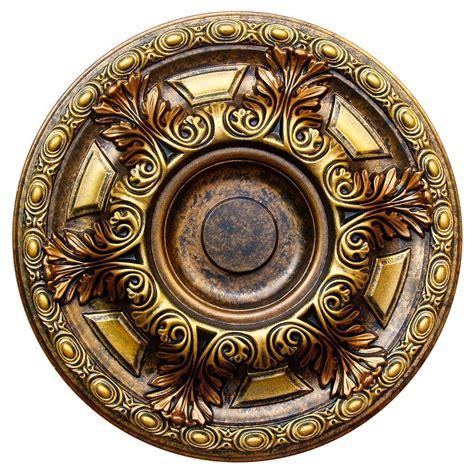 fine art deco golden cup bronze gold 23 5 8 in
